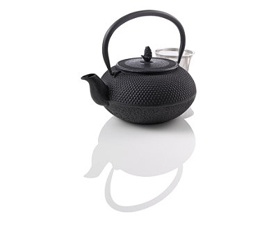 Small Hobnail Cast Iron Black Teapot